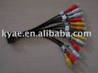 auto stereo wire harness,car audio wire harness,car vedio wire harness,RCA wire harness