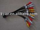 auto stereo wire harness,car audio wire harness,car vedio wire harness,RCA wire harness
