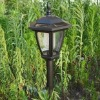 GOOD! Outdoor Garden Solar Light Wall Light Stainless Steel Long Tube Lamp 4LED Lamp