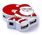 Hot Father Christmas shape 4 Port USB Hub