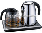 1.8L strainer removable electric kettle(High temperature resistant glass teapot)