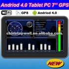 2012 Newest Andriod 4.0 Cortex-A8 1.2GHz CPU WIFI 7'' Tablet PC with built-in GPS Navigator