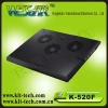 K-520F three fans classical design laptop cooling pad