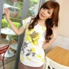 2012 Summer New Cute Print flowers pattern Cotton Casual t-shirt C8340