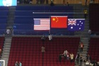 Beijing Olympic Game's level medal award flag raising system