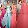 2013 free shipping strapless beaded sweetheart custom-made pink evening gowns CWFae4959