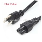6ft 3 PRONG US POWER CORD FLAT CABLE FOR UNIVERSAL TV PC HDTV MORE
