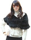 Black mink tail knitted fur shawl YR-185
