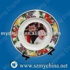 8inch floscular brim coated plate