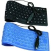 100% waterproof soft silicone USB keyboard