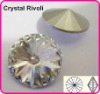 Color Clear/Crystal 20mm Rivoli Crystal Stones, Shiny Fancy Stones as SWAROV Crystal Stones, Chinese Top Quality Crystal Rivoli