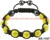 fashion yellow shamballa bracelet