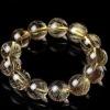 AAAA 18mm round rare golden rutilated quartz bracelet