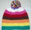 children crochet pom winter hat