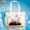 recycled promotional printed 100% natural cotton printed calico tote bag