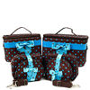 Zoey Polka Dot Cosmetic Bag Set with Butterfly
