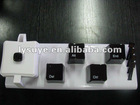 White & Black Keyboard Plastic Coffee Cup