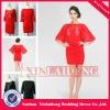 WGD001 fashion half sleeve big red short corset packet hip wedding guest dresses