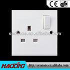 British standard brush type 13A wall switch socket