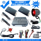 The Latest Passive keyless entry GSM car alarm,remote start module built in,push button start,all car alarm function.