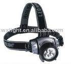 Convenient 3 straw hat+2red LED headlight/LED headlamp