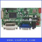 professional PC board for LCD monitor with VGA +DVI+Audio