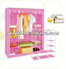 pink 75g nonwoven fabric foldable wardrobe