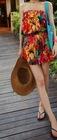 Wholesale Cheap Fashion New Arrive Bohemian Style Flower Falbala Tie Dye Tube Beach Jumpsuit(1205296)