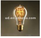 Antique Edision Rustika PS60 R-Shape with Nipple Carbon Filament Bulb-Golden Version