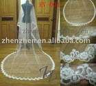 2011 long style, customized one layer, tulle with lace applique edge bridal veil RV-004