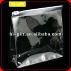 custom stand-up clear pvc packing bag
