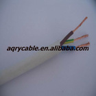 Copper Conductor PVC Insulated PVC Sheathed Multli-Core Flexible Round Cable(3 Cores).