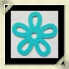 silicone anti slip cup coaster with flower design