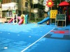Interlocking plastic kids outdoor playground