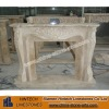 beige marble fireplace with high quality