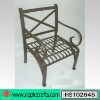 Wrought iron garden table and chair set