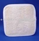 Square loofah bath pad