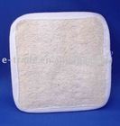 Square loofah bath pad