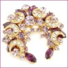 flower brooch rhinestone butterfly brooch gold brooch jewelry female brooch costume brooch