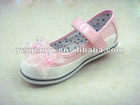Fashion girls dance shoes leather