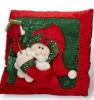 glamorous father christmas throw pillow