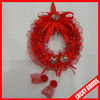 red hanging flower wreath for wedding decoration