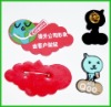 CUTE soft plastic badge with cartoon shape