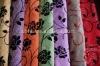 Plain flower printed flocking fabric upholstery curtain sofa cloth