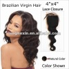 Group buying,cheap brazilian virgin free style lace closure piece natural color in stock on sale