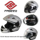 ECE approved fresh abs shell modular helmet with intergrated sun visor fs-501