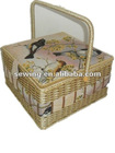 angel tapestry fabric basket