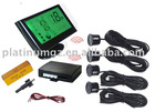 wireless LCD parking system LCD display 4 parking sensor