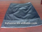 2012 luxury women high quality mid length faux leather skirt