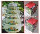 Cooking Pot Stocks J4201 Enamel Casserole Pot Sets